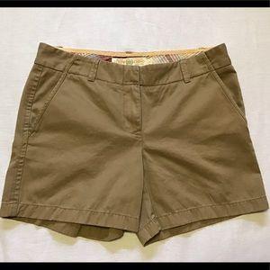 J Crew tan Chino shorts size 6